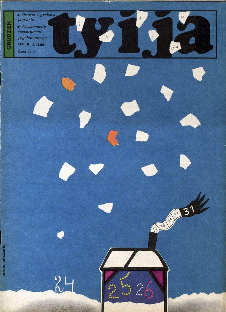 """""""Ty i Ja"""" magazine, 12.1971, cover by Henryk Tomaszewski"""