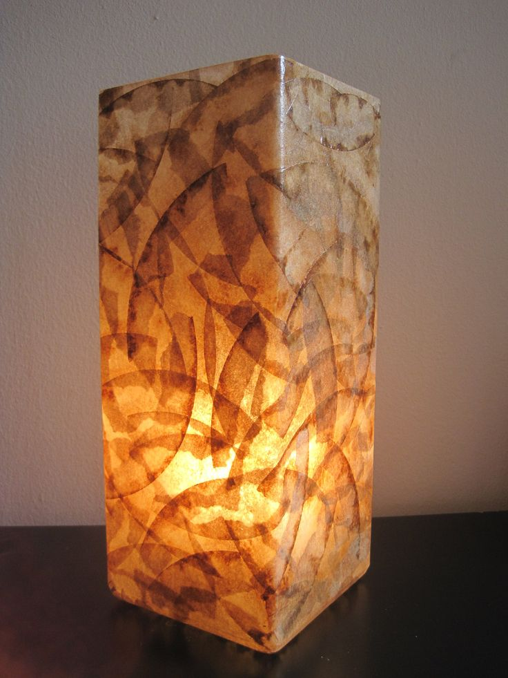Coffee filter art glass lamp table lamp table light unique lighting