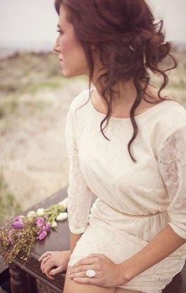 Bohemian Updo--loose and relaxed (Krista?) @Krista Catalano do you like?