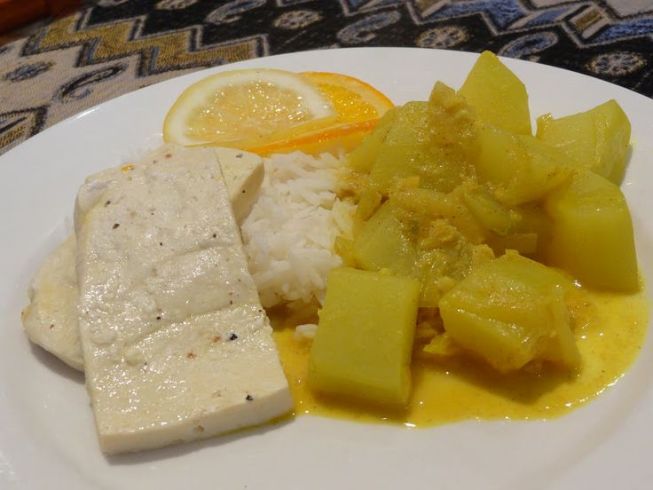 Green popo curry and citrus baked tofu in coconut cream ...