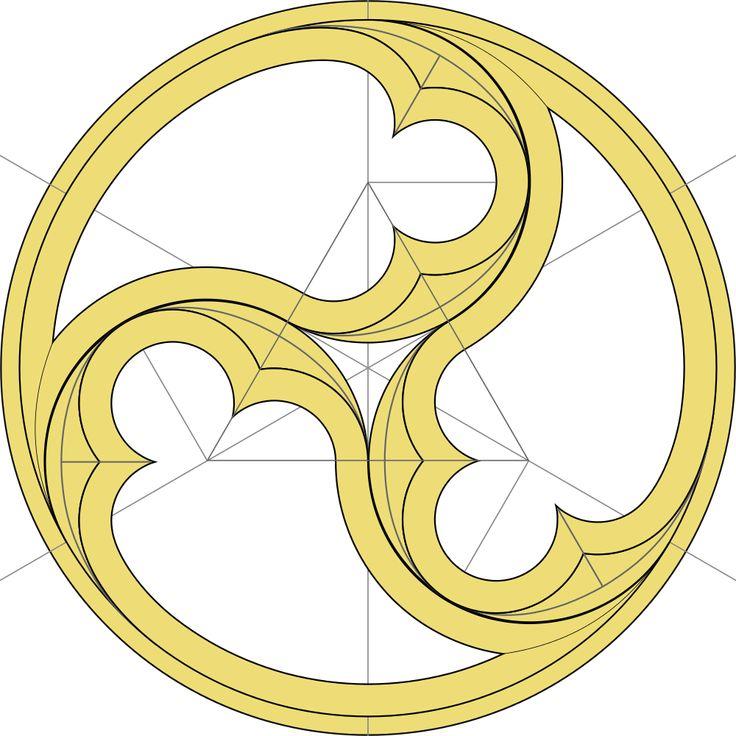 Triskelion element of Gothic architecture
