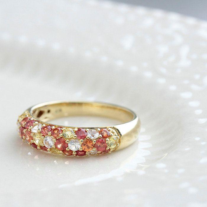 指輪レディースリングサファイアマルチパヴェ9月誕生石マルチサファイアリングK181.250ct】