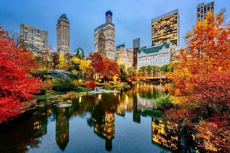 Autumn in Central Park by @skremerphoto  New York City Feelings  The Best Photos and Videos of New York City including the Statue of Liberty, Brooklyn Bridge, Central Park, Empire State Building, Chrysler Building and other popular New York places and attractions