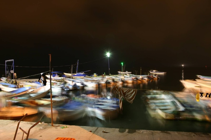 Malecon de Veracruz, Mexico Where local fishermen park their boats