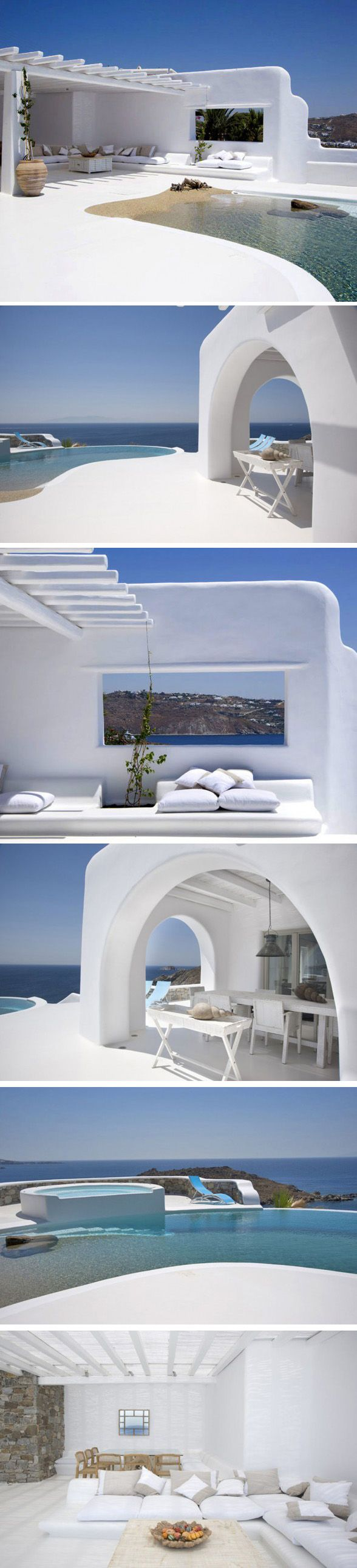 Mykonos Villa, Greece #Mykonos #Greece #www.Mykonos-Dreams.com                                                                                                                                                                                 Más
