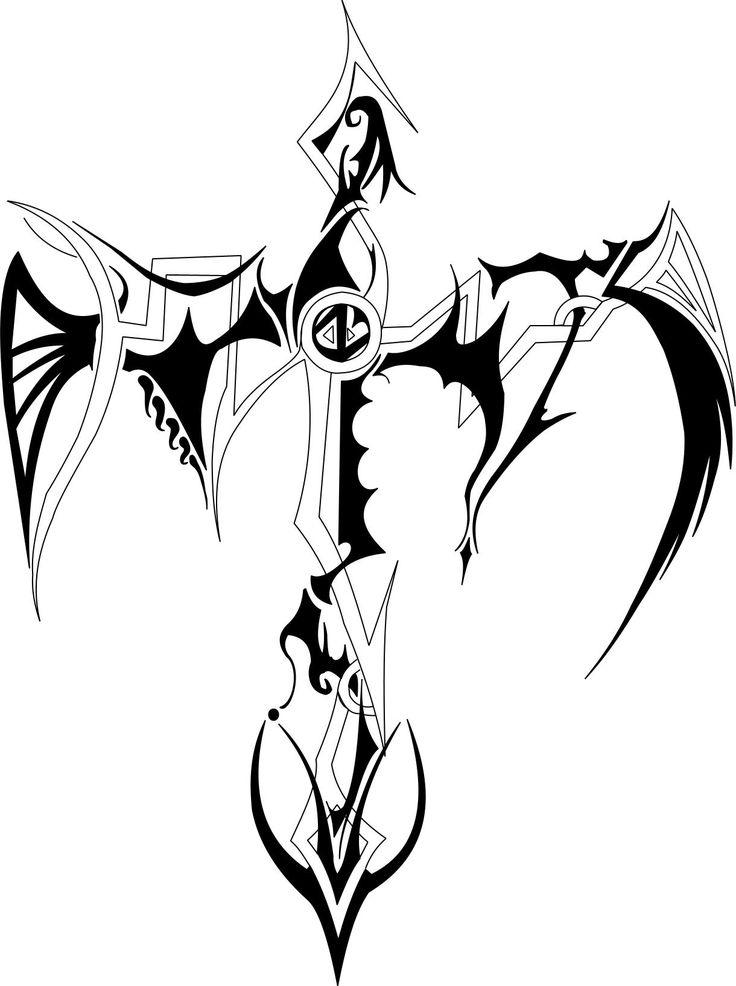 cross tattoo designs tribal cross by hunter g 114 designs interfaces tattoo design 2007. Black Bedroom Furniture Sets. Home Design Ideas