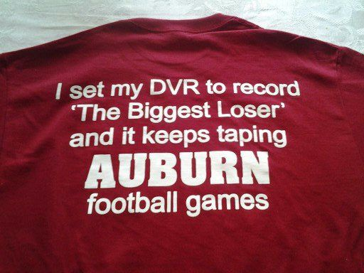 ALABAMA CRIMSON TIDE biggest loser auburn tigers t-shirt. roll tide!