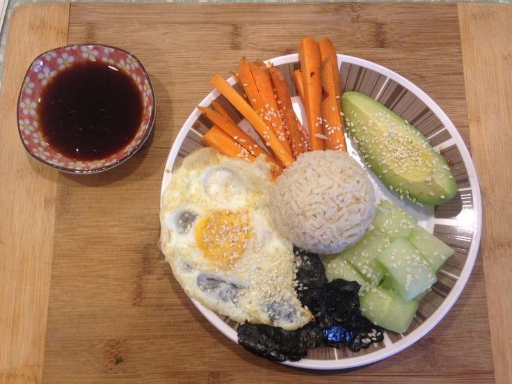 Deconstructed Sushi Bowl with a Fried Egg  @iquitsugar #iqs8wp
