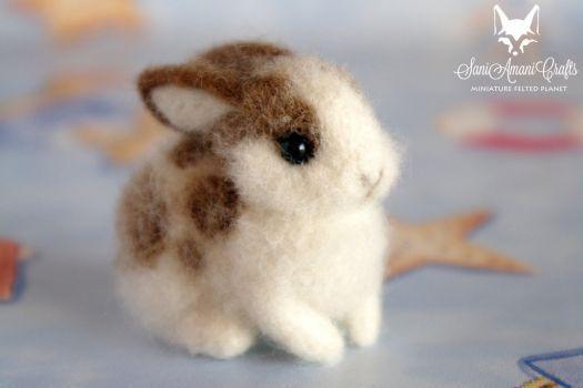 Bunny cw II by SaniAmaniCrafts #feltanimals