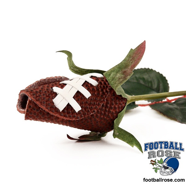 Football Rose Long Stem - Football themed gifts $17.95