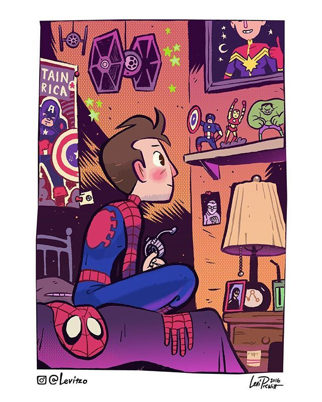 Spiderman homecoming - love all the marvel stuff he has❤️