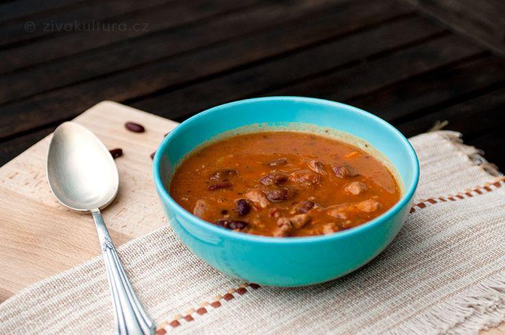 Mexická gulášová polévka