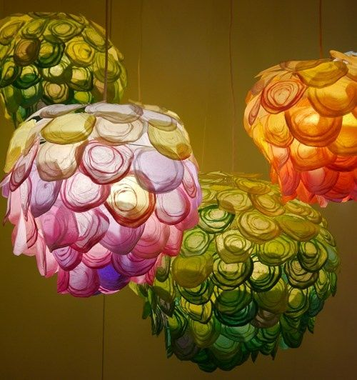 Hand Woven Paper Lights By Tomomi Sayuda