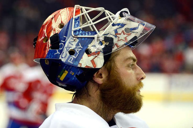 WASHINGTON, DC - FEBRUARY 24: Braden Holtby #70 of the Washington Capitals warms up before the game against the Edmonton Oilers at Verizon Center on February 24, 2017 in Washington, DC. (Photo by Greg Fiume/NHLI via Getty Images)