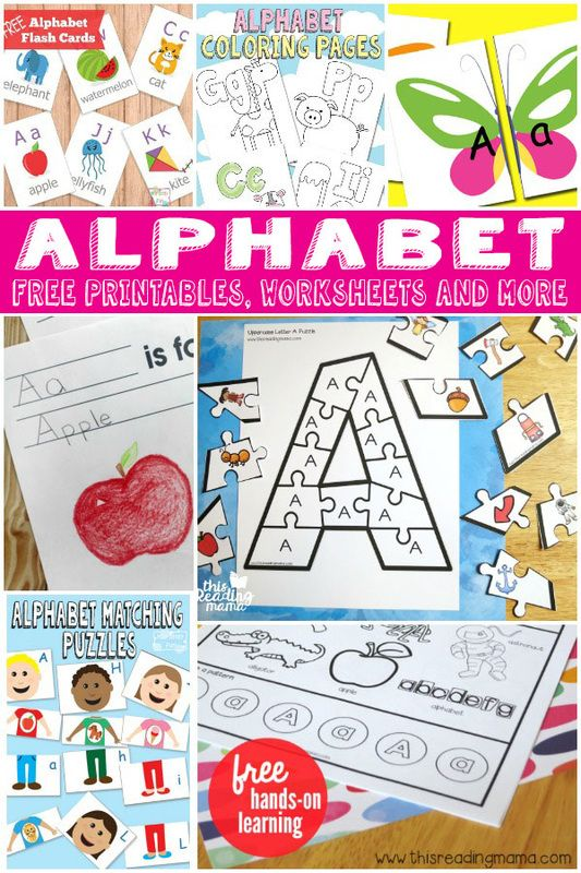 FREE Alphabet Printables                                                                                                                                                      More