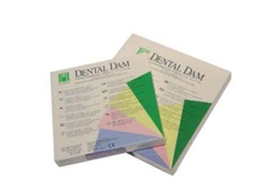 GOMA DIQUE HYGENIC Puro latex. Mayor visibilidad y acceso. Protección suave del tejido fino y control de humedad. Caja x 52 unidades. Delgada 5x5 - Cod 25711 - COLORES: VERDE MEDIO 5x5 - Cod 25712 - AZUL MEDIO 5x5 - Cod 25713 - VERDE MEDIO 6x6 - Cod 25717