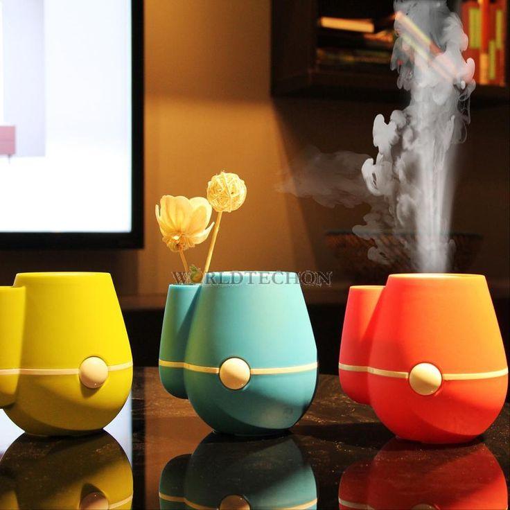 220ml USB Ultrasonic Cool Mist Humidifier Vase Air Purifier Aroma Diffuser Mini #UnbrandedGeneric