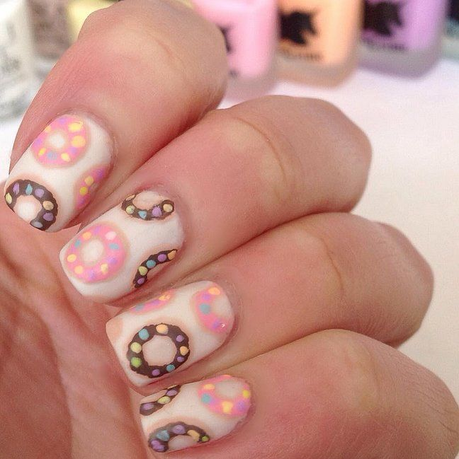 Donut be afraid to try this nail art.