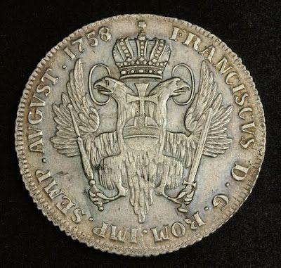 Free City of Hamburg 32 Schilling (2 Mark) Silver Coin, minted 1758. German Coins, Münzen Deutschland, German coinage, silbermünzen, German silver coins, Münzen aus Deutschland, Numismatic Collection, Münzen Deutsches Kaiserreich, Coins of Germany best silver coins for investment