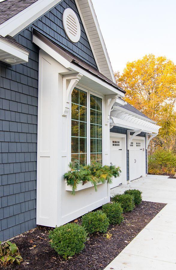 Winter Front Porch Outside House Paint Garage Door Design