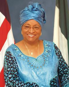 Africa's first female President (Liberia) and 2011 Nobel Peace Prize winner: Ellen Johnson Sirleaf.