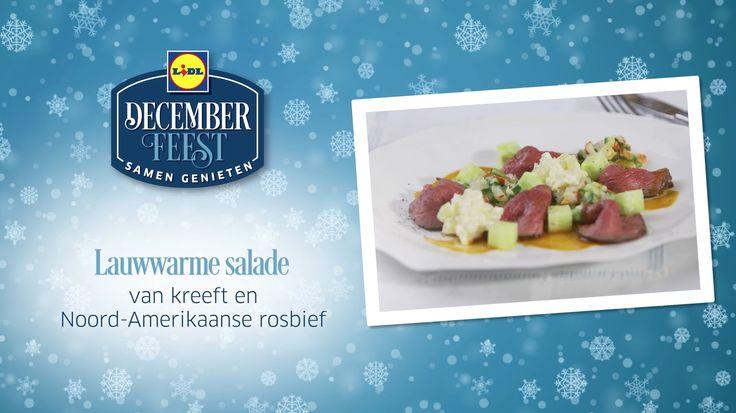 Deze lauwwarme salade van kreeft en Noord-Amerikaanse rosbief is gemakkelijk zelf te bereiden! Meer December Feest recepten ontdekken? Kijk op www.lidl.nl #Lidl #Decemberfeest