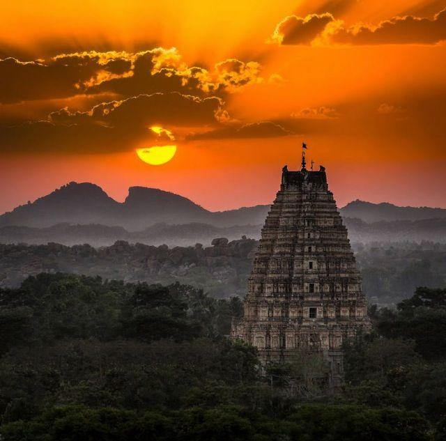 Sunset over Hampi, Southern India by Kevin Standage
