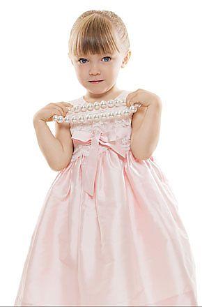Flowergirls - pink flowergirls dress with lace bodice
