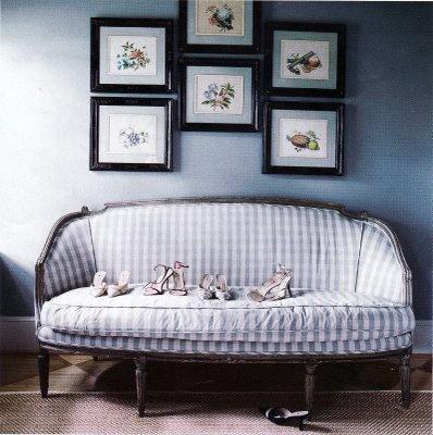 Superior Vintage Gingham Sofa