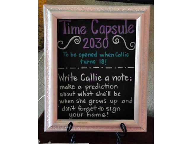 Make a Time Capsule for Baby