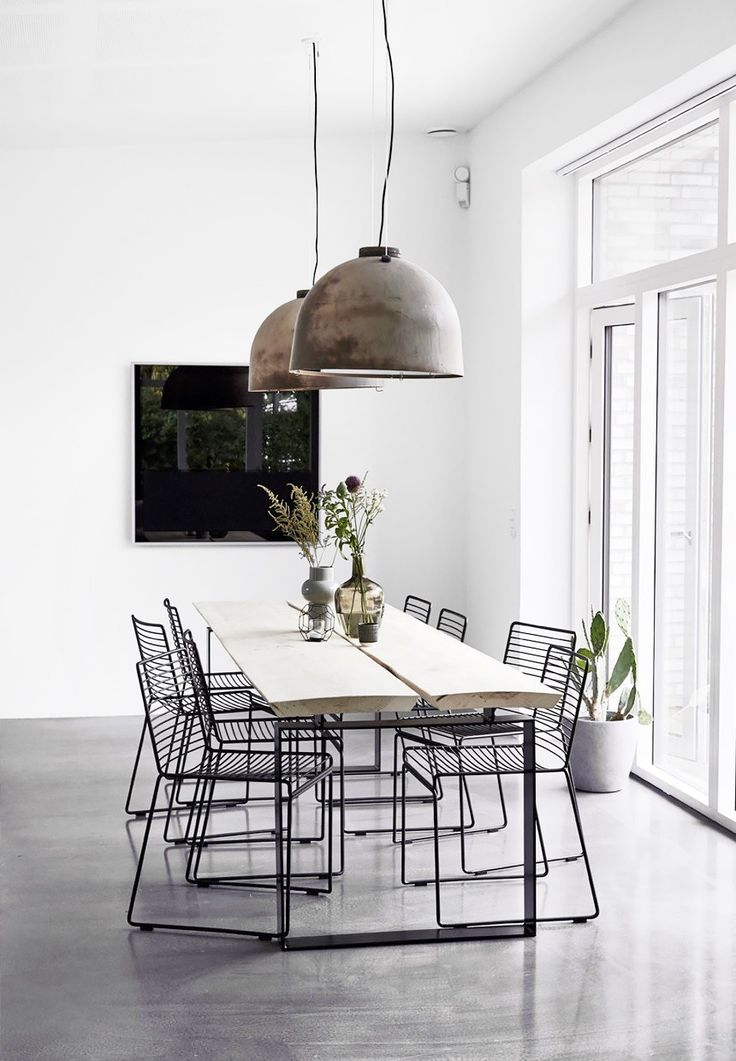 Best 25+ Industrial Dining Rooms Ideas Only On Pinterest | Industrial Style Dining  Table, Industrial Dining Tables And Black Dining Room Chairs Part 83