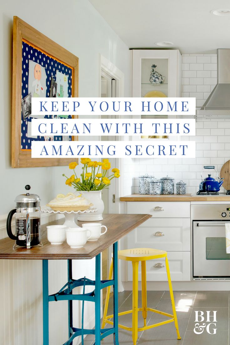 As it turns out, the secret to cleaning less is to actually clean more. No, we're not crazy. Learn more about our quick cleaning tactics. All these tips take such little effort, but add up big time on cleaning day. #cleaningtips #cleaning #cleaninghacks