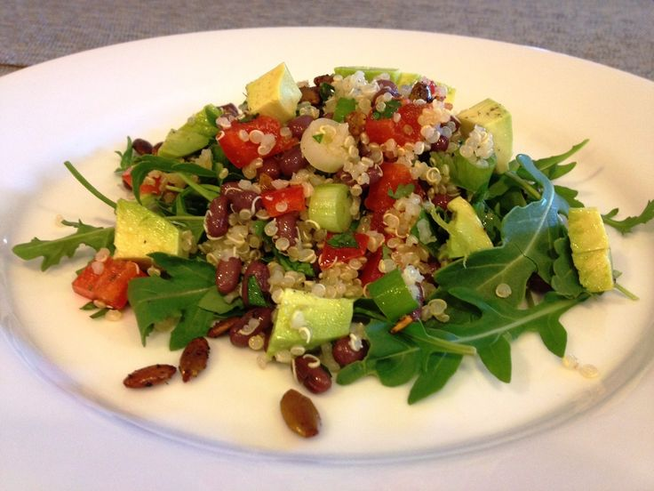 Quinoa, Beans and Salads on Pinterest