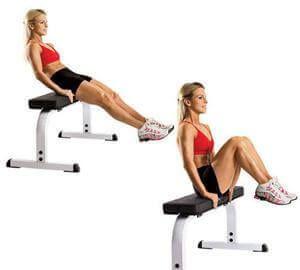 Abdominais com flexão de pernas para queimar gordura abdominal