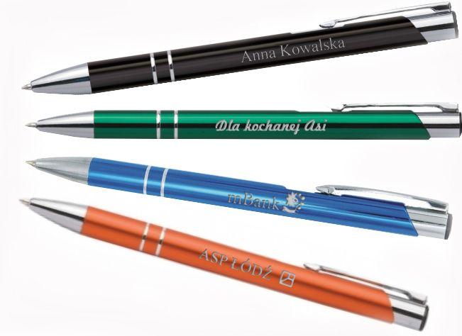 Przykłady długopisów z grawerem