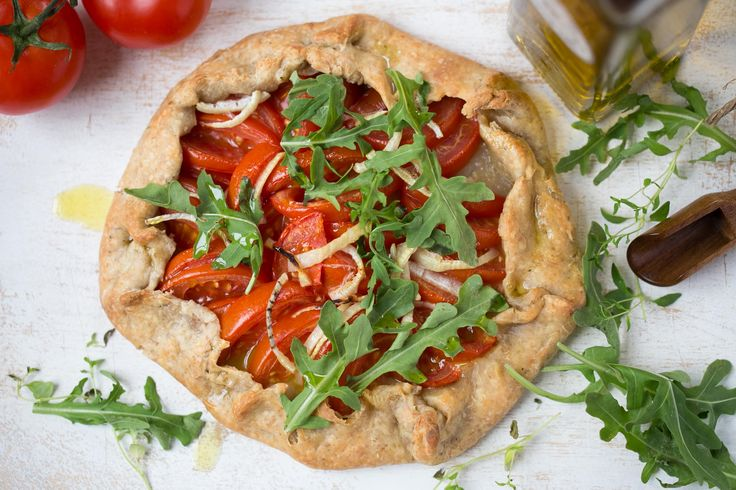 Wholewheat Summer Tomato and Rocket Galette