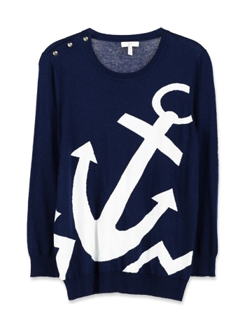 Love this nautical inspired sweater by Joie!