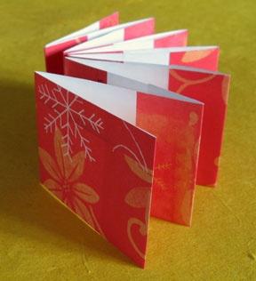 Accordion mini-book. Instructions at http://www.bellaonline.com/articles/art6424.asp