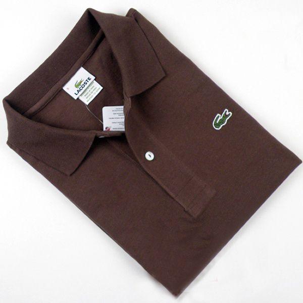 Boutiques de Polos Lacoste Homme Brown Classique-Fit pas chere en ligne