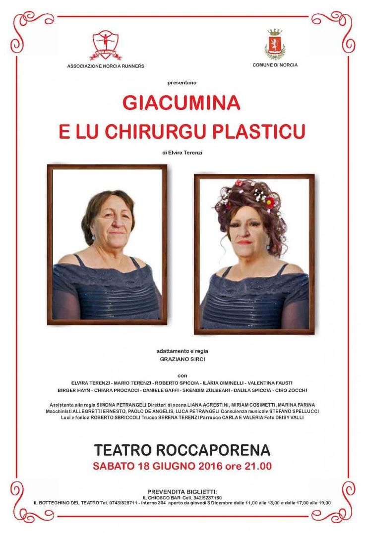 Giacumina e lu chirurgo plastico in scena a Roccaporena