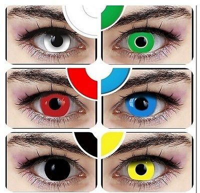 single one piece monolithic Colored Contacts Lens Cosmetic Color Contacts Lenses Cosplay Halloween 6Color Eye Shadow(China (Mainland))