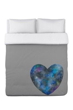 Single Cosmic Heart Duvet Cover