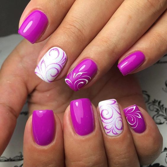 20 Fat Purple Nails Designs That Will Rock In This Summer