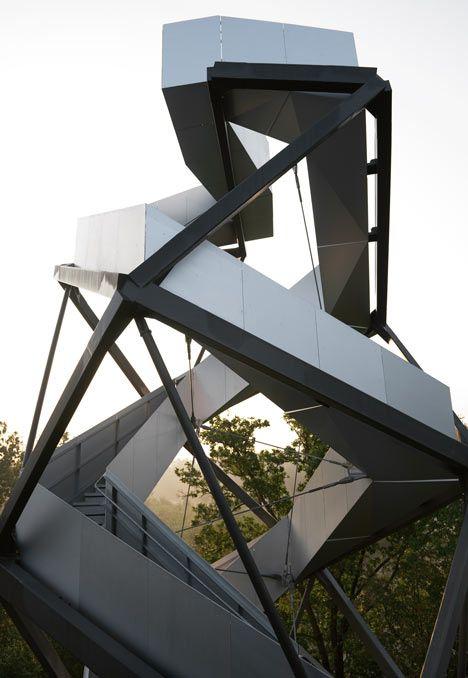 Observation Tower on the River Mur by terrain loenhart mayr