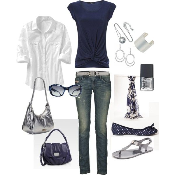 Navy: Navy And White, Polka Dots, Skinny Jeans, Summer Outfits, Fashionista Trends, Casual Outfits, The Navy, Spring Outfits, Old Navy