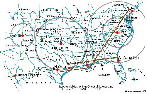 Magnetic Ley Lines in America   Ley Lines, good sources of info and detailed map of where they fall in ...