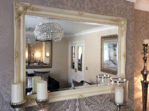 Cream Shabby Chic Wall Mirror