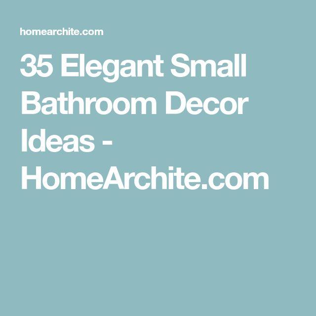 Elegant Bathroom Decor: Best 25+ Elegant Bathroom Decor Ideas On Pinterest