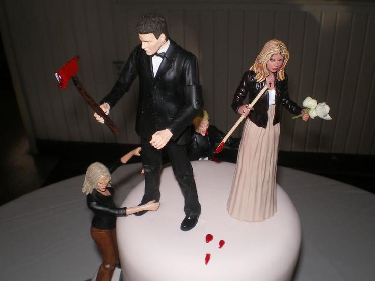 Buffy The Vampire Slayer Cake Topper Too Funny Grooms Sweet Persuasions