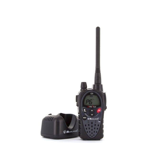 MIDLAND G9E  Walkie-talkie G9 está especialmente diseñado para ser usado en las condiciones más difíciles. Es un walkie robusto y compacto.  http://www.tesycom.es/descripcion.php?id_product=500&start=0&strmarques=10,12,9,11,13&strcateg=16